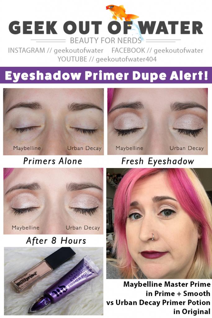 Eyeshadow Primer Dupe Alert! UD vs Maybelline